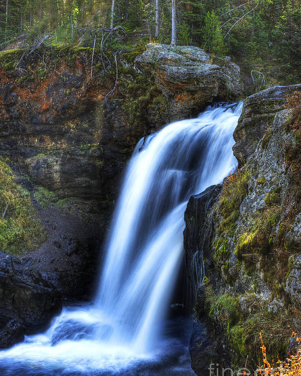 Places Poster featuring the photograph Crayfish Falls by Dennis Hammer