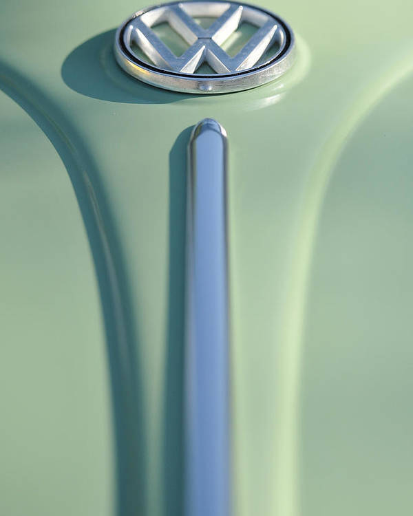 Car Poster featuring the photograph Cream Green Volkswagon by Brian Mollenkopf