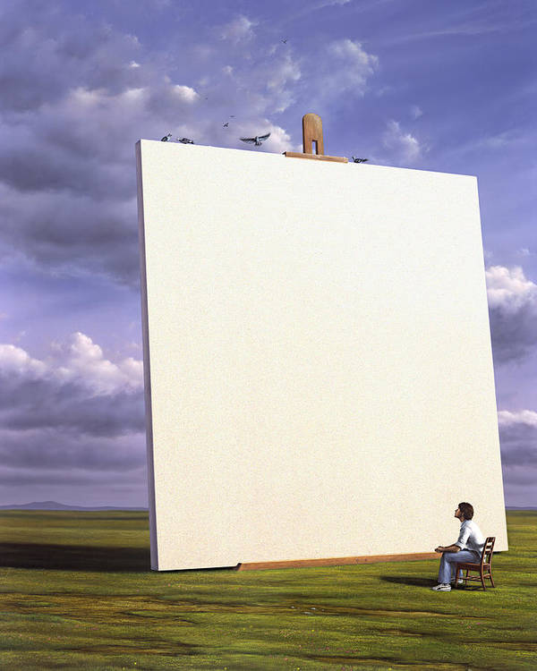 Art Poster featuring the painting Creative Problems by Jerry LoFaro