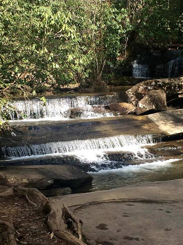 Waterfall Poster featuring the photograph Creek At Table Rock by Kristine Nutt