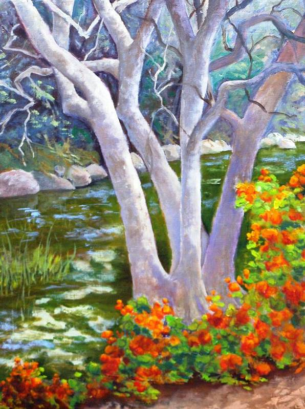 Tree Poster featuring the painting Creekside by Dorothy Nalls
