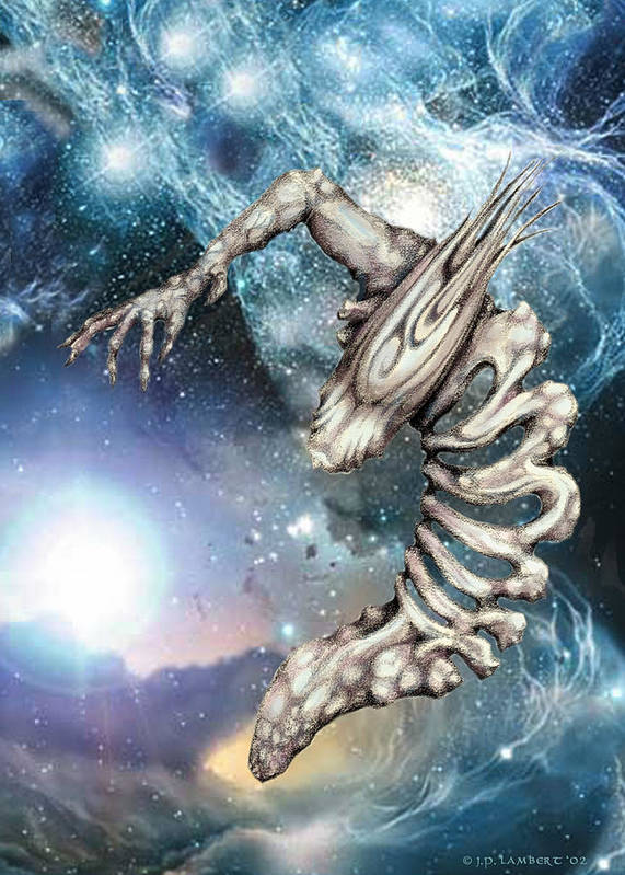 Alien Poster featuring the digital art Crescent by J P Lambert