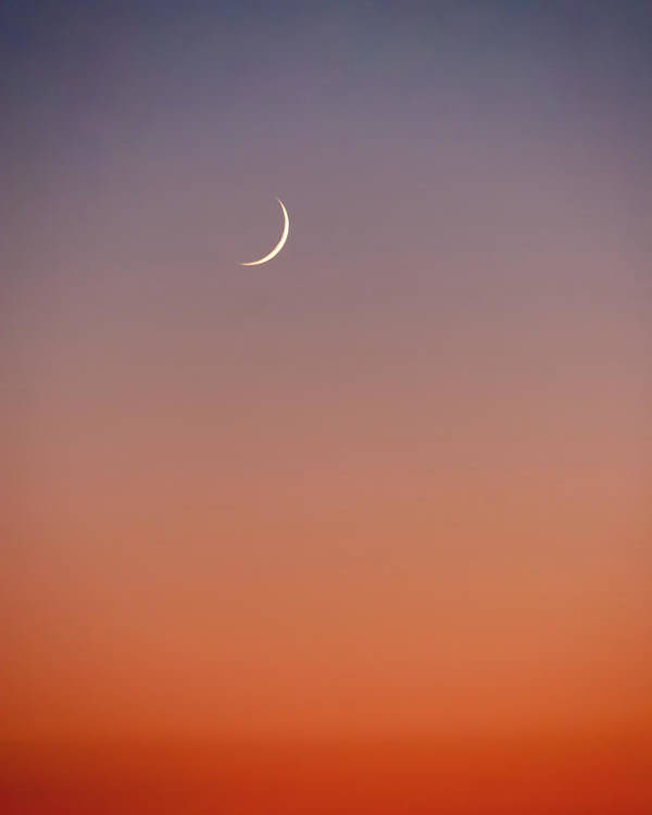 Crescent Moon At Sunset Colour Gradient Poster By Iordanis Pallikaras