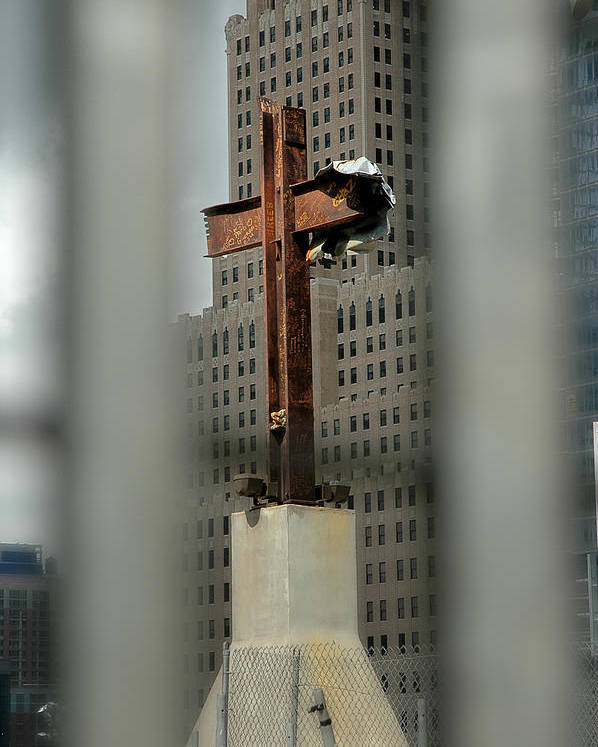 Cross Poster featuring the photograph Cross At Ground Zero by Frank Mari