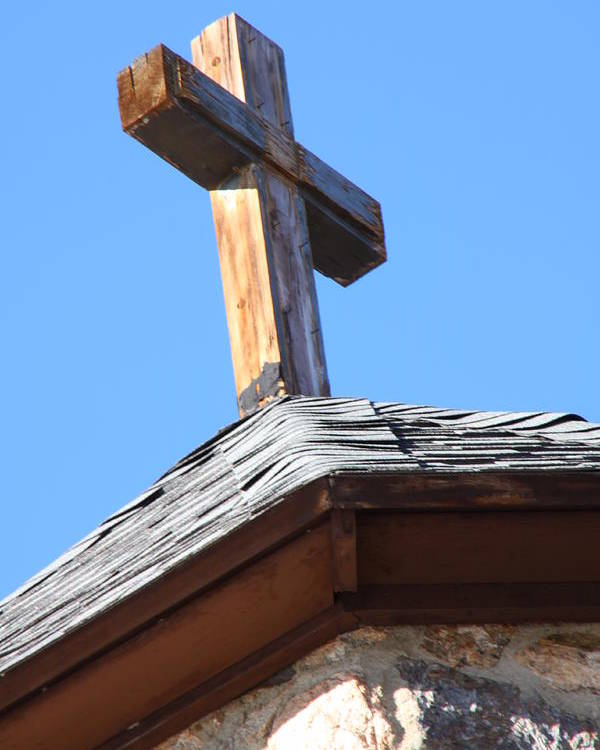 Religious Poster featuring the photograph Cross Atop St. Malos by Cynthia Cox Cottam