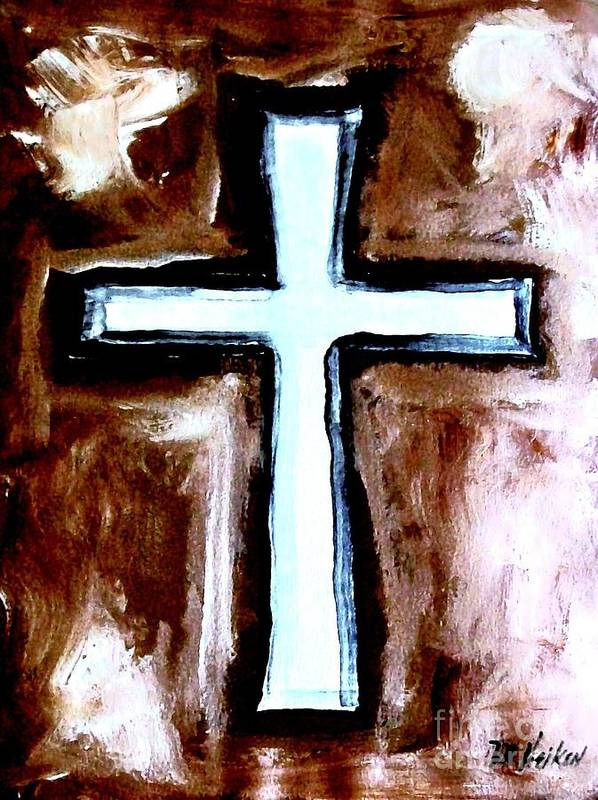 Painting Poster featuring the painting Cross For Me by Marsha Heiken