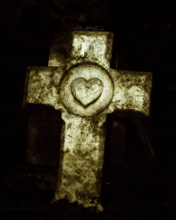 Cross Poster featuring the photograph Cross My Heart by Carl Perry