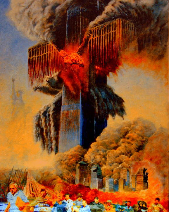 Henryk Poster featuring the painting Cross Of The Third Millennium by Henryk Gorecki