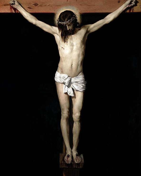Crucifixion Poster featuring the digital art Crucifixion by Diego Velazquez
