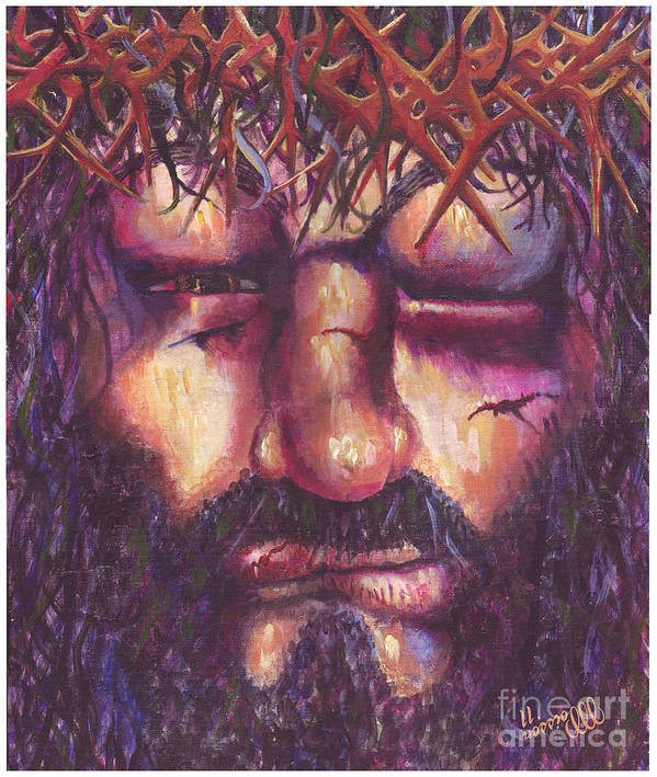 Crucifixion Poster featuring the painting Crucifixion. Master Fully Done by Jean-Marie Poisson