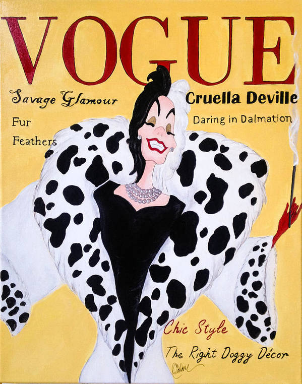 Cruella Deville Vogue Poster By Catherine Carbone