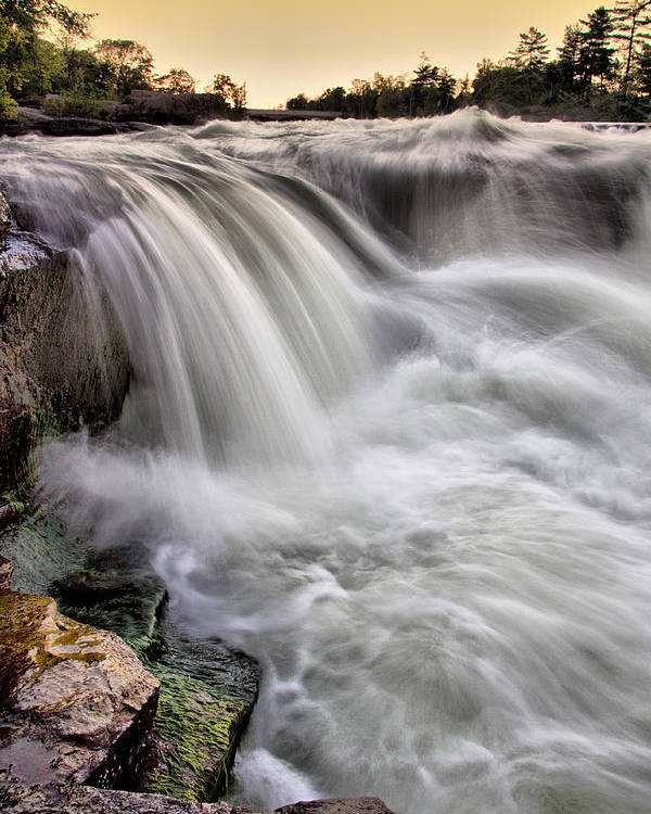 Burleigh Falls Poster featuring the photograph Crystal Cascade by Russell Styles