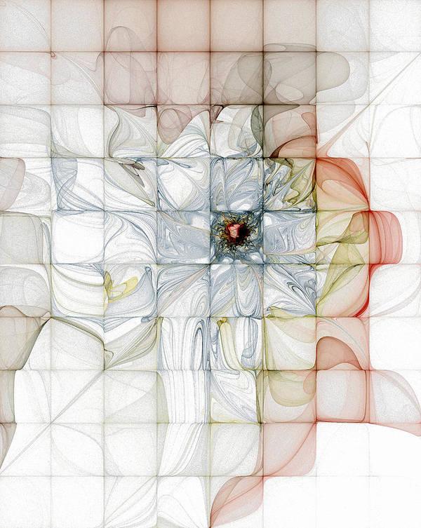 Digital Art Poster featuring the digital art Cubed Pastels by Amanda Moore