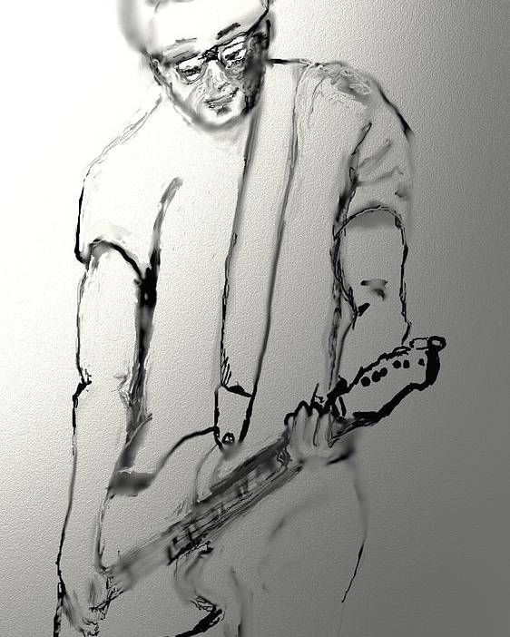 Musician Poster featuring the drawing Cy Sulak by Robert Rearick