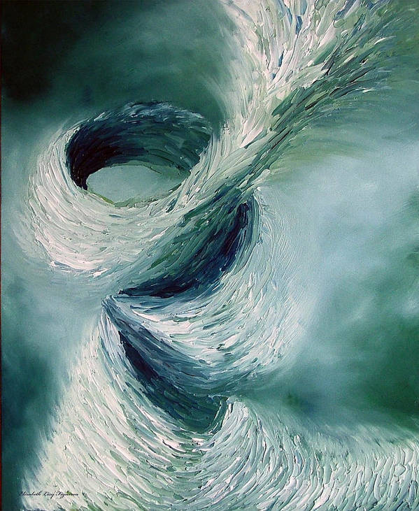 Tornado Poster featuring the painting Cyclone by Elizabeth Lisy Figueroa