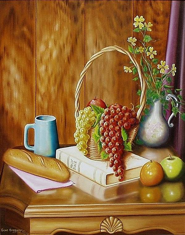 Still Life Poster featuring the painting Daily Bread by Gene Gregory