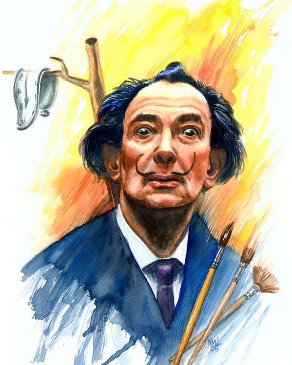 Salvador Dali Poster featuring the painting Dali by Ken Meyer jr