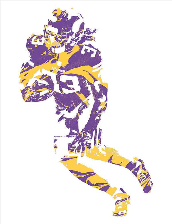 Dalvin Cook Minnesota Vikings Pixel Art 1 Poster