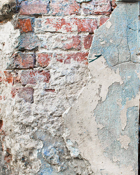 Abandoned Poster featuring the photograph Damaged Brick Wall by Tom Gowanlock