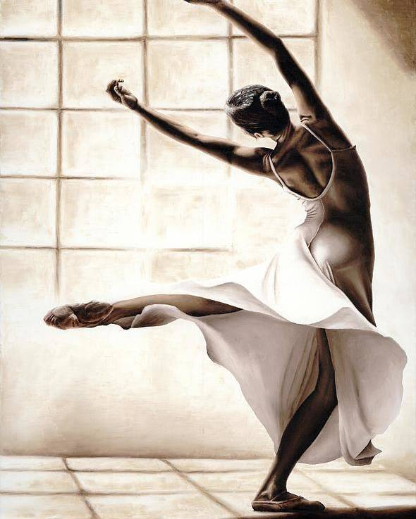 Dancer Poster featuring the painting Dance Finesse by Richard Young