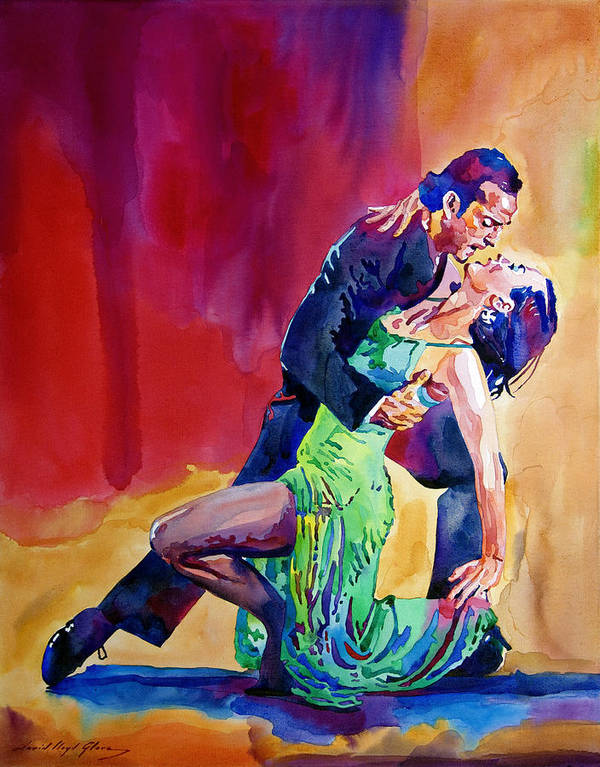 Dance Poster featuring the painting Dance Intense by David Lloyd Glover