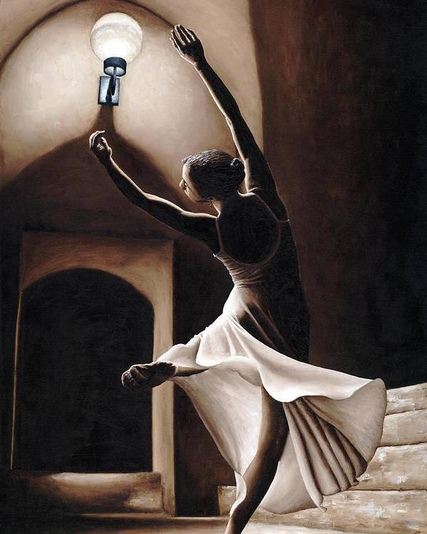Dance Poster featuring the painting Dance Seclusion by Richard Young