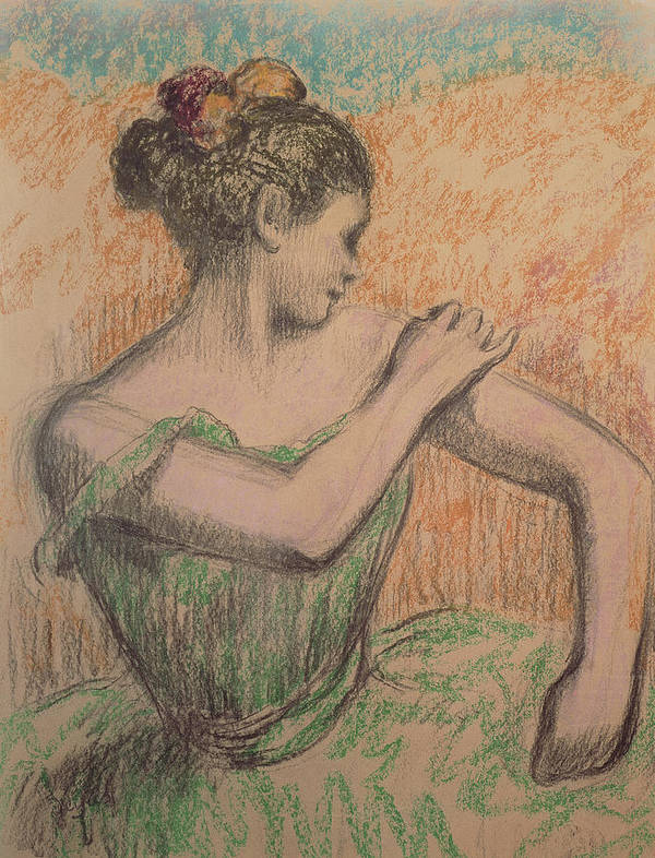 Dancer Poster featuring the pastel Dancer by Degas