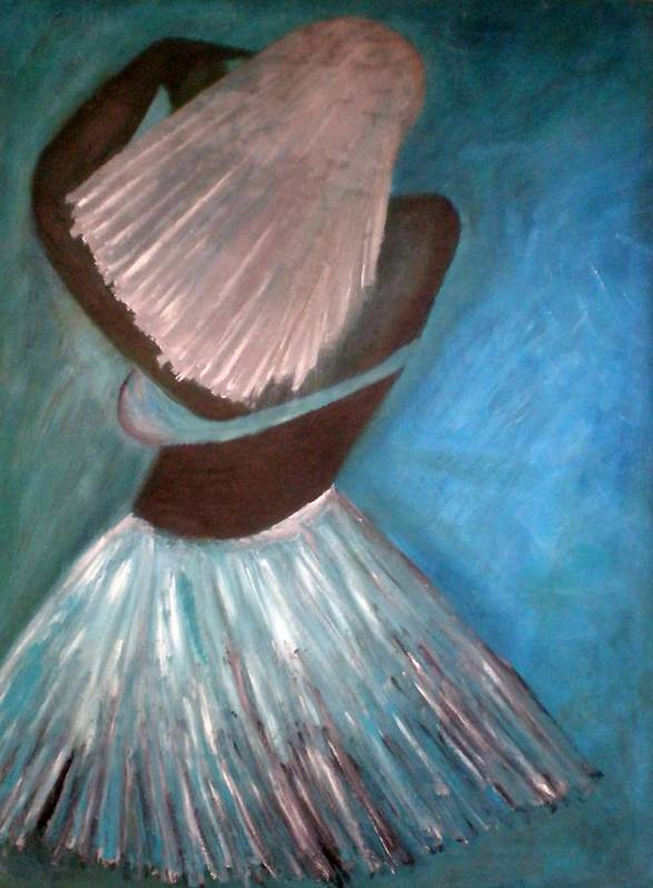 Dancer Poster featuring the painting Dancer by Philip Okoro