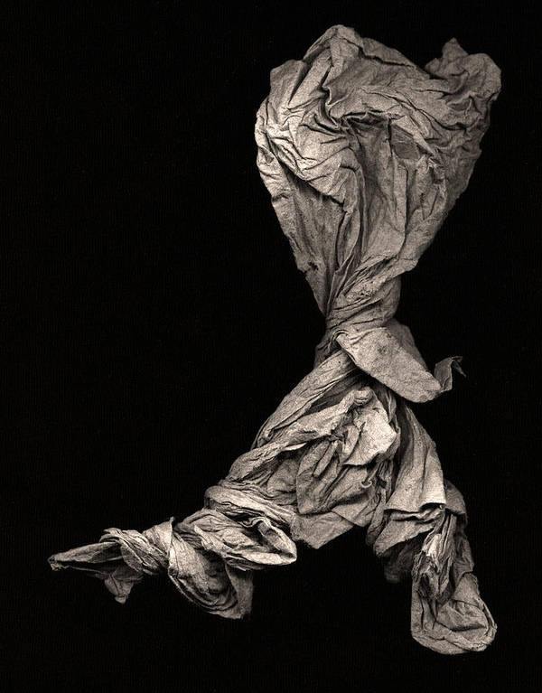 Origami Poster featuring the sculpture Dancer Two by Peter Cutler