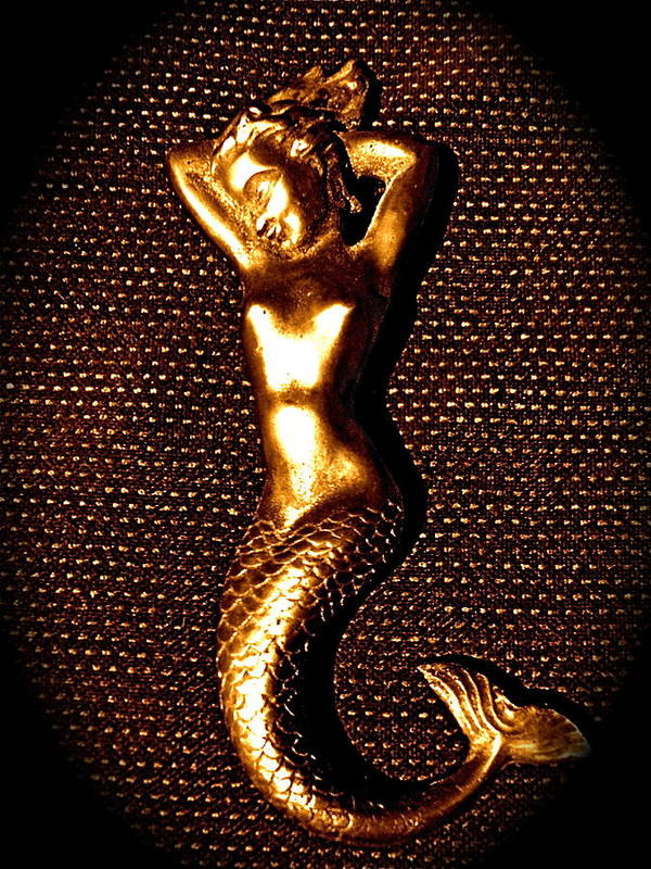 Mermaid Poster featuring the photograph Dancing Bronze Mermaid by Eric Singleton