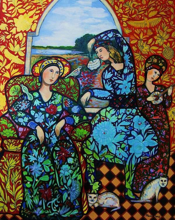 Newburyport Poster featuring the painting Dancing In Newburyport by Marilene Sawaf