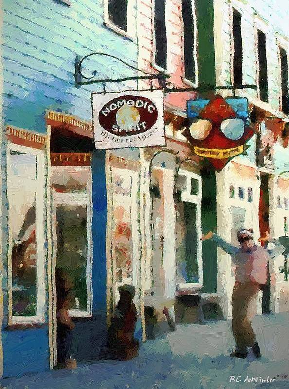 Colorado Poster featuring the painting Dancing In The Street by RC DeWinter