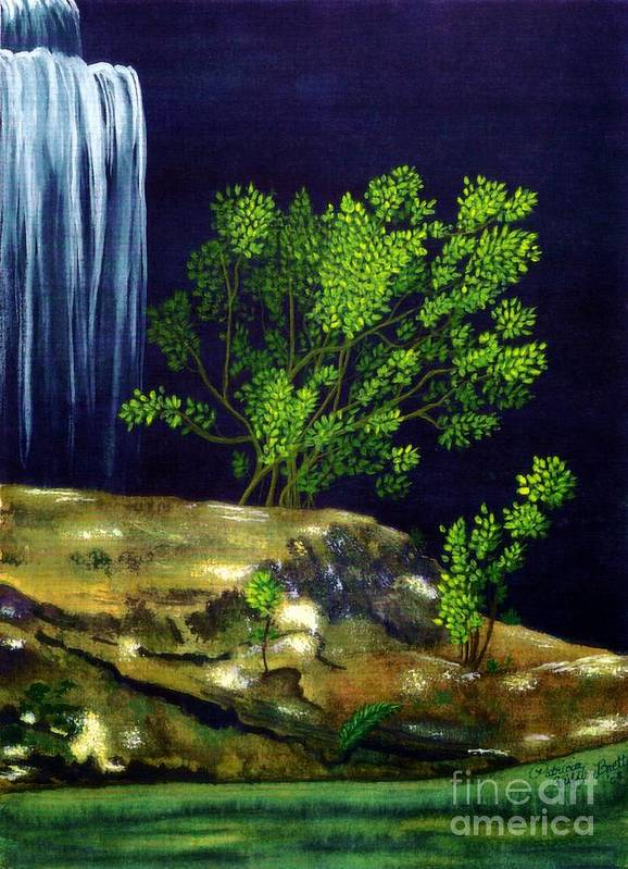 Fine Art Poster featuring the painting Dark Waters by Patricia Griffin Brett