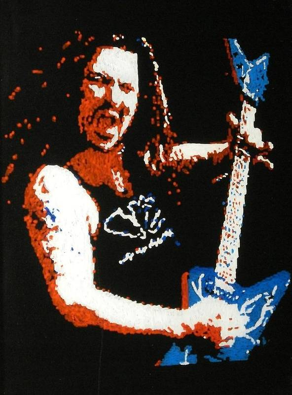 Pantera Poster featuring the painting Darrel Abbott by Grant Van Driest
