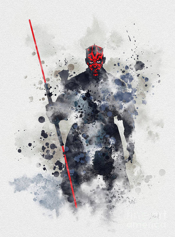 Star Wars Poster featuring the mixed media Darth Maul by My Inspiration