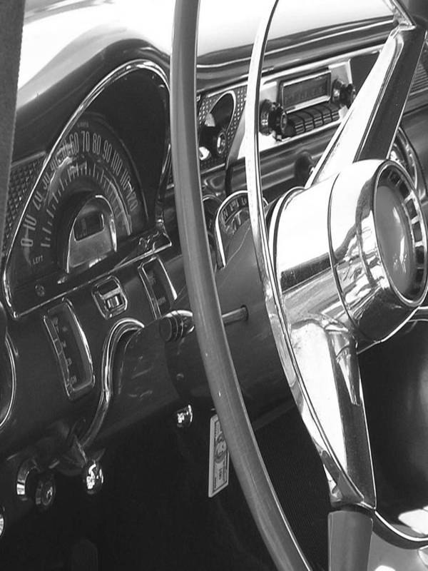 Car Artwork Poster featuring the photograph Dashboard by Audrey Venute