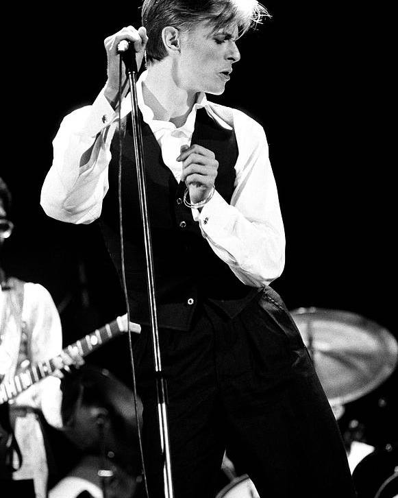 David Bowie Poster featuring the photograph David Bowie 1976 #2 by Chris Walter