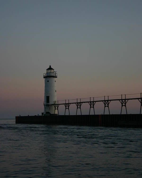 Light House Poster featuring the photograph Dawn Light House by Kevin Dunham