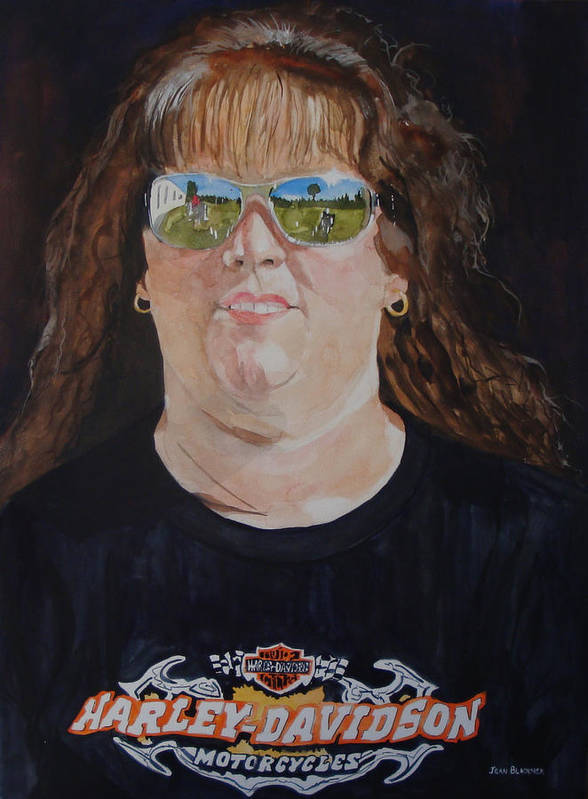 Portrait Poster featuring the painting Dawn Reflects by Jean Blackmer