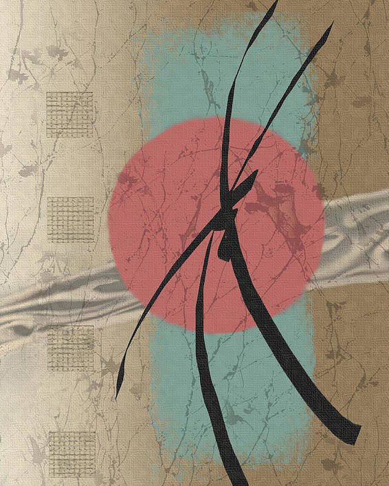 Contemporary Asian Japanese Oriental Abstract Sun Sunrise Sunset G Poster featuring the painting Daybreak by Gordon Beck
