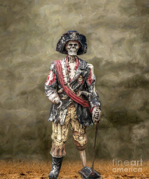Pirate Poster featuring the digital art Dead Men Tell No Tales by Randy Steele