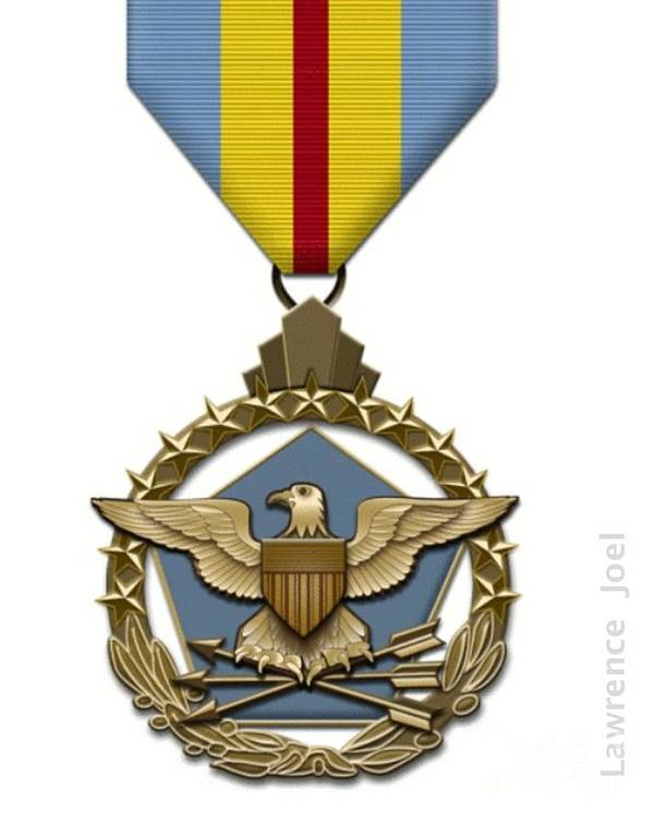Military Medals Poster featuring the photograph Defense Distinguished Service Medal by Lawrence Joel
