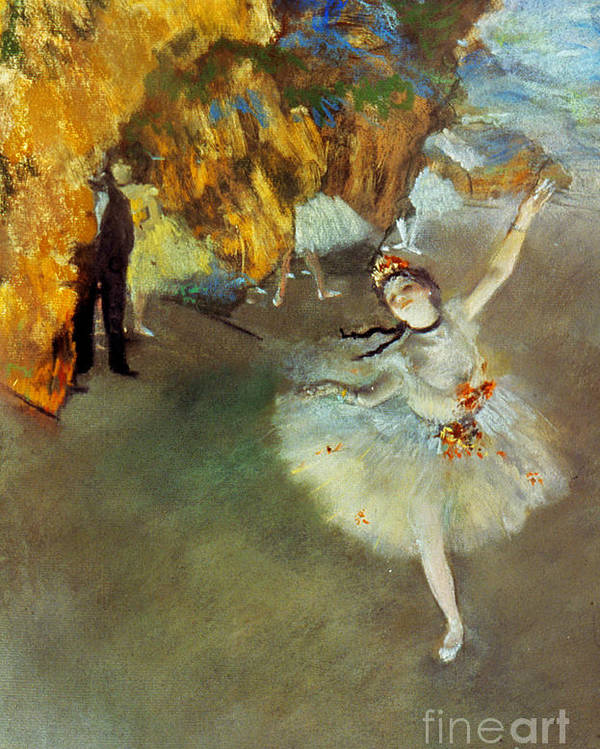 19th Century Poster featuring the photograph Degas Star, 1876-77. To License For Professional Use Visit Granger.com by Granger