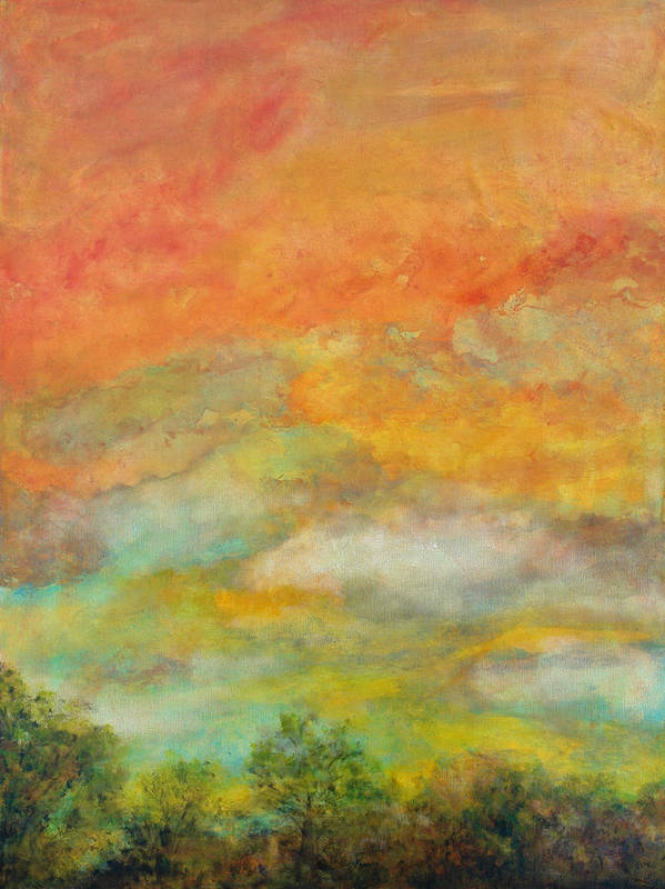 Landscape Poster featuring the painting Delight by Marie Baehr