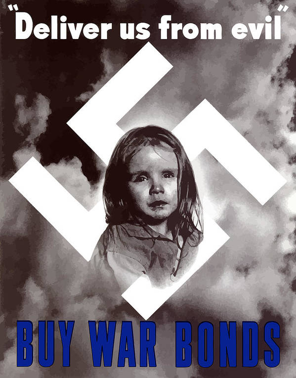 Ww2 Poster featuring the painting Deliver Us From Evil by War Is Hell Store