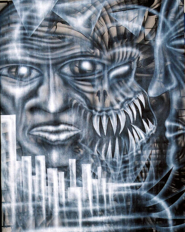 Alien Poster featuring the painting Demon City by Leigh Odom