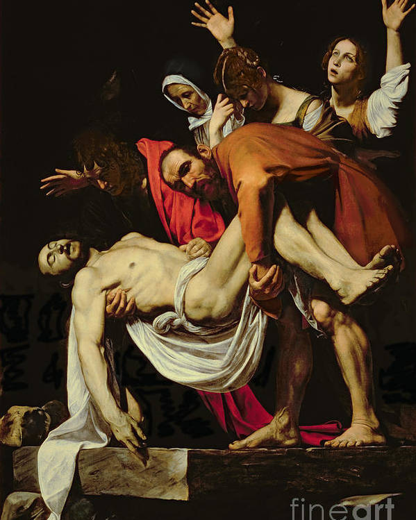 Deposition Poster featuring the painting Deposition by Michelangelo Merisi da Caravaggio