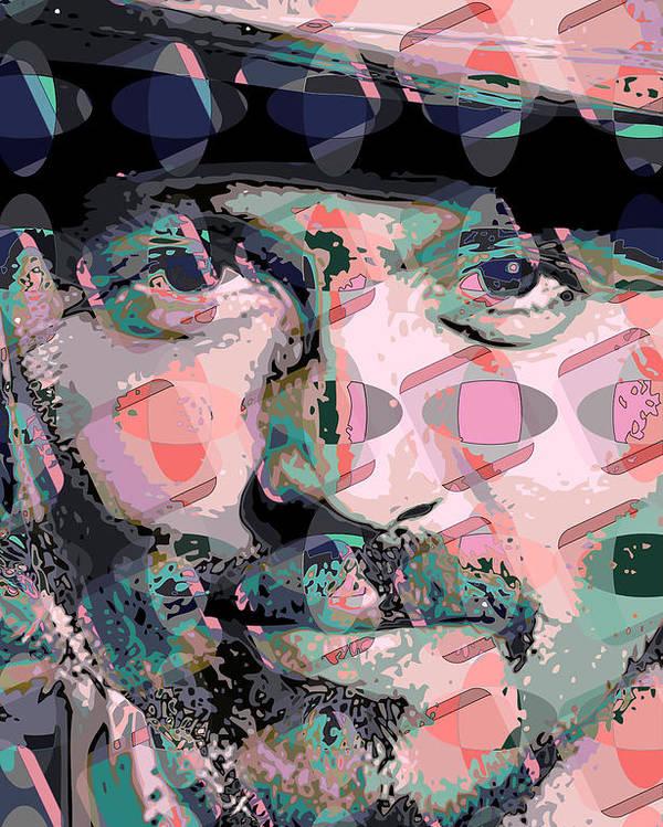 Poster featuring the digital art Depp1 by Scott Davis