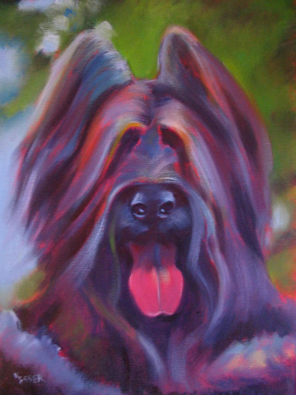 Briard Poster featuring the painting Derby by Kaytee Esser