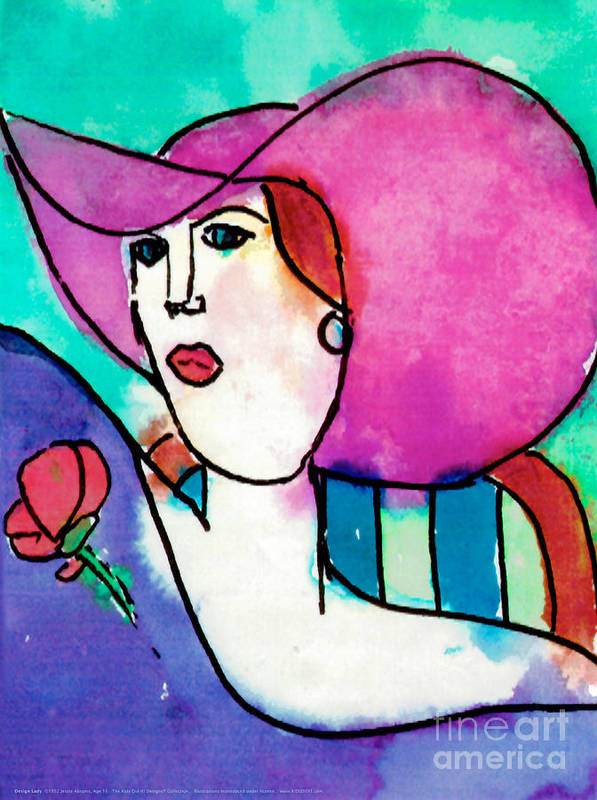 Fashion Poster featuring the painting Design Lady by Jessie Abrams Age Eleven